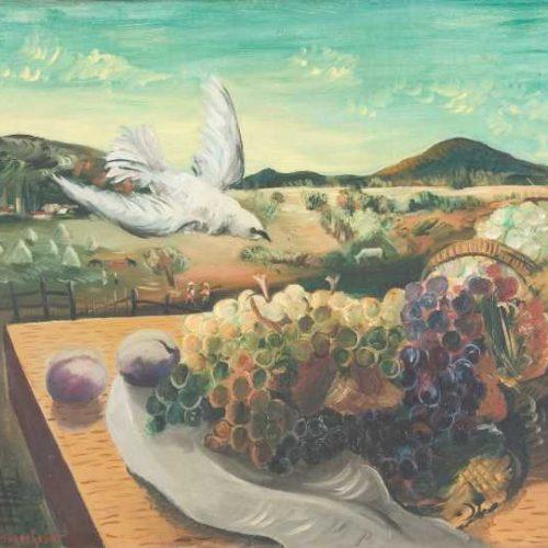 Бенчо Обрешков – Натюрморт на открито, 1938 г.