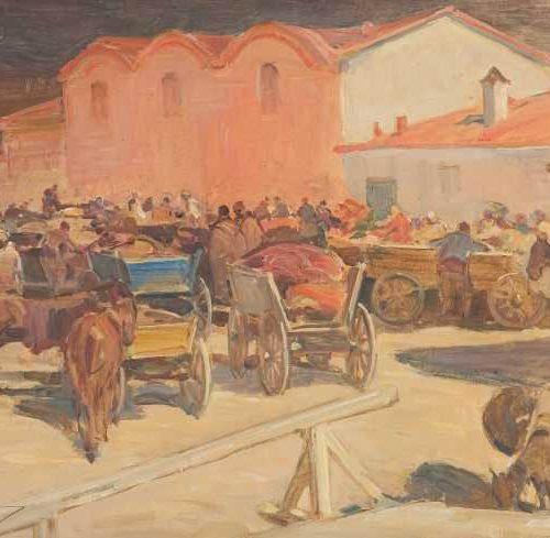 Добри Добрев - Сливен - на пазара, 1926