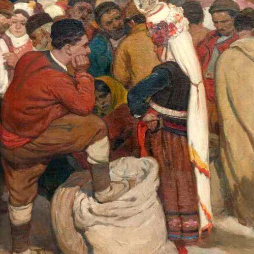Добри Добрев - Селяни на пазара, 1932