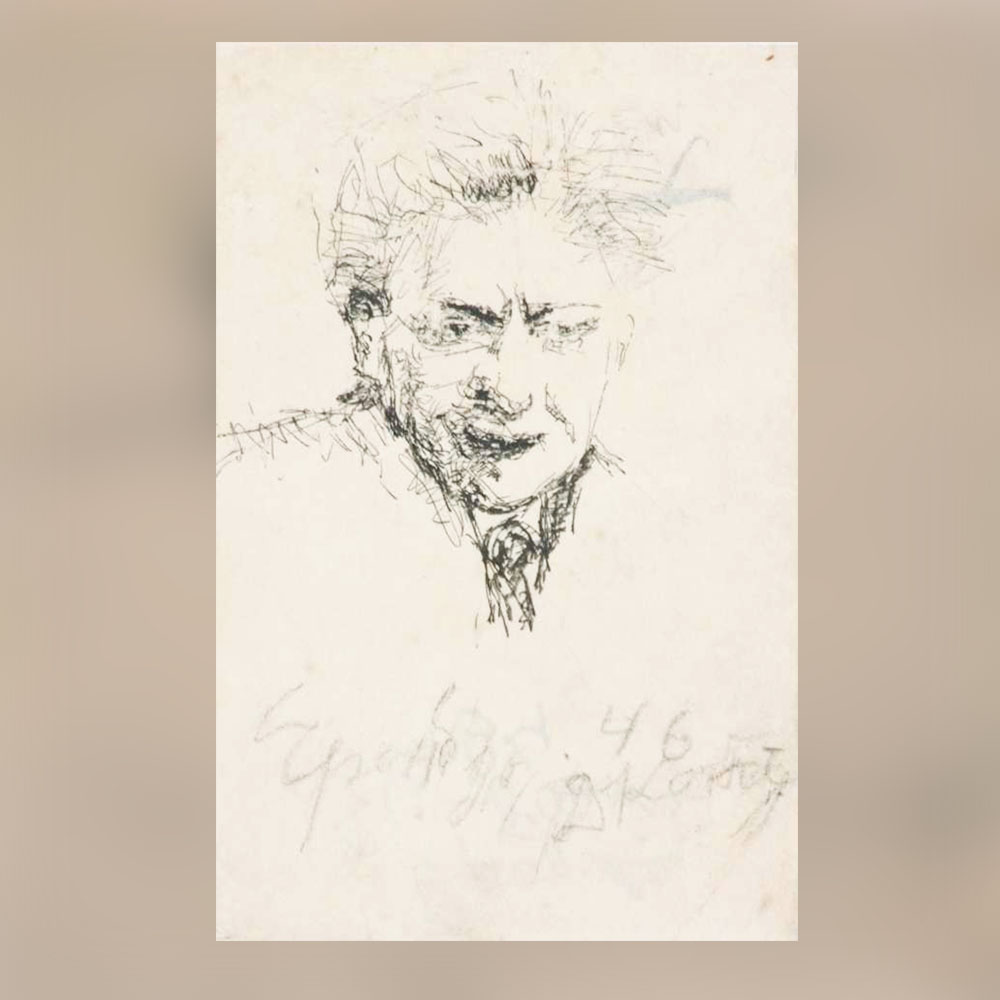 Донка Константинова – Портрет на Иля Еренбург, 1946