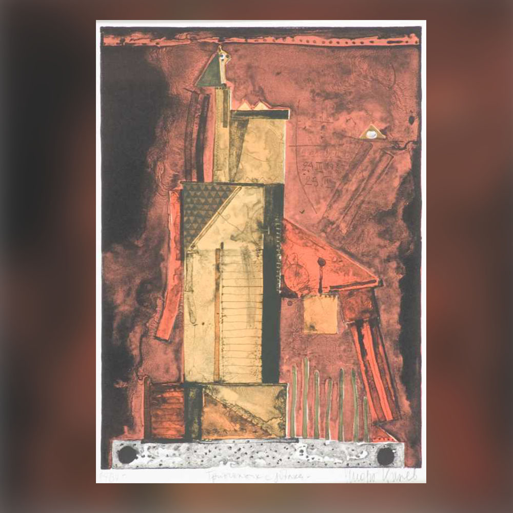Стоян Цанев – Триъгълник с ябълка, 1987