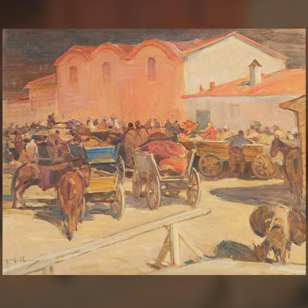 Добри Добрев – Сливен – на пазара, 1926 г.