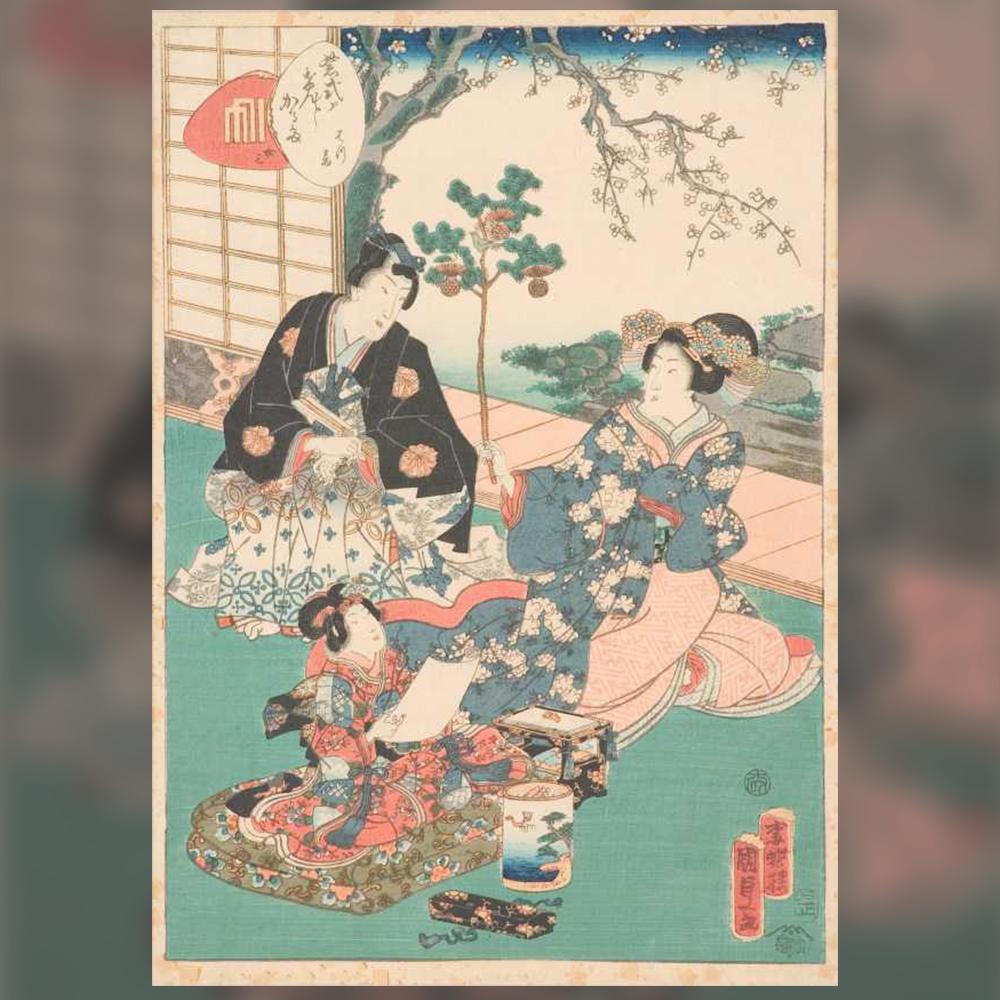 Кунисада Утагава – Тойокуни III – Сказание за принц Генджи