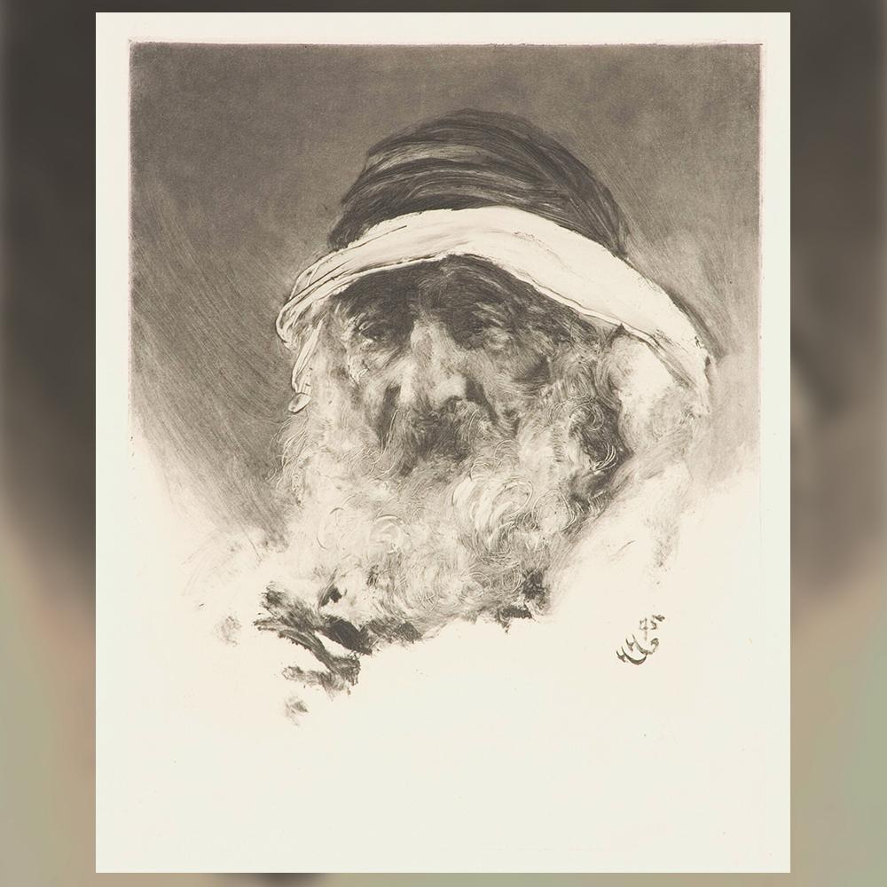 Хуберт фон Херкомер - Портрет на старец